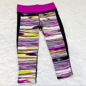 NIKE Striped Cropped Leggings Size S